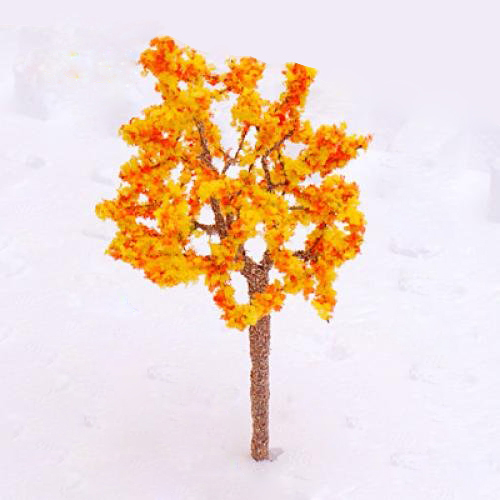 Model Tree Train Orange Flowers Set Scenery Landscape OO HO - 10PCS