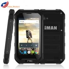Иман X5 IP67 Водонепроницаемый мобильный телефон 4.5 дюймов MTK6580 Quad Core Android 5.1 1 + 8 ГБ прочный 5MP GPS 3000 мАч 3 г WCDMA смартфон