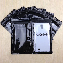 5000pcs 11*19cm Waterproof Zipper Mobile Phone Shell Plastic package case Bag Zip Lock With Hang Hole Resealable Packaging Pouch