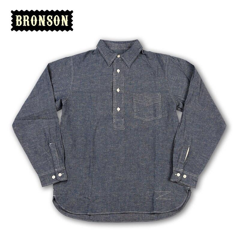 Lire la DESCRIPTION chemise en lin bronson homme chemise vintage à manches longues