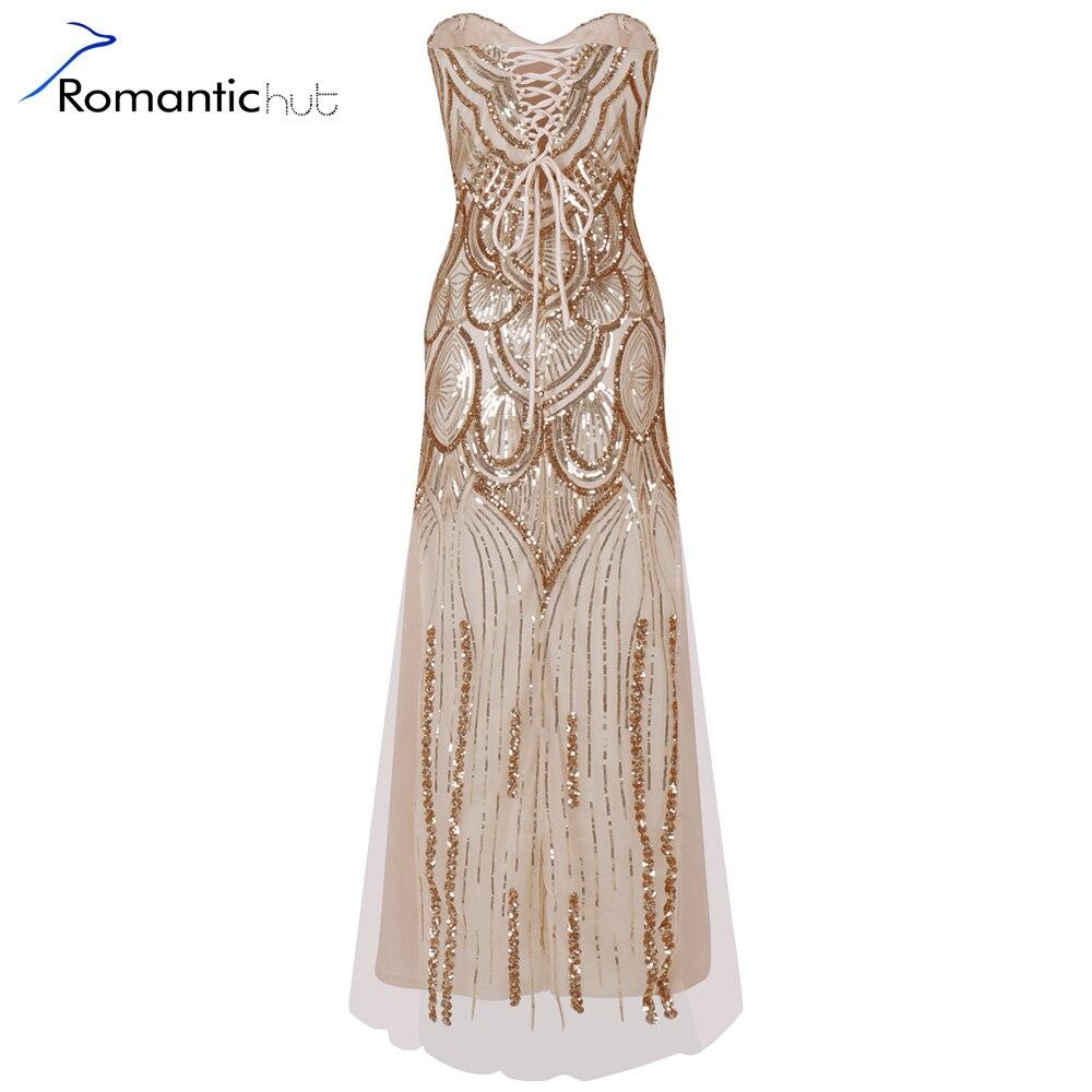 Buy Cheap Romantichut 2017 Sexy Women Vintage luxury 1920s Sequin Art Embellished Fringed Flapper Dress Colorful Beads Vestidos de fiesta