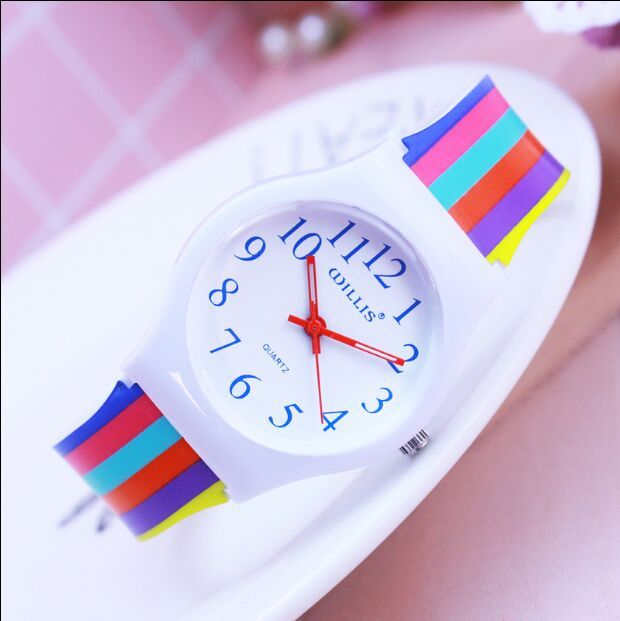 New Fashion WILLIS Brand Watches Women Rainbow Design Lovely Color Quartz Watch