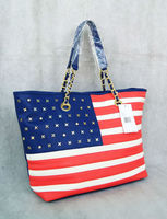 New Arrival Americana stripe chain The USA Flag Fashion girls bags