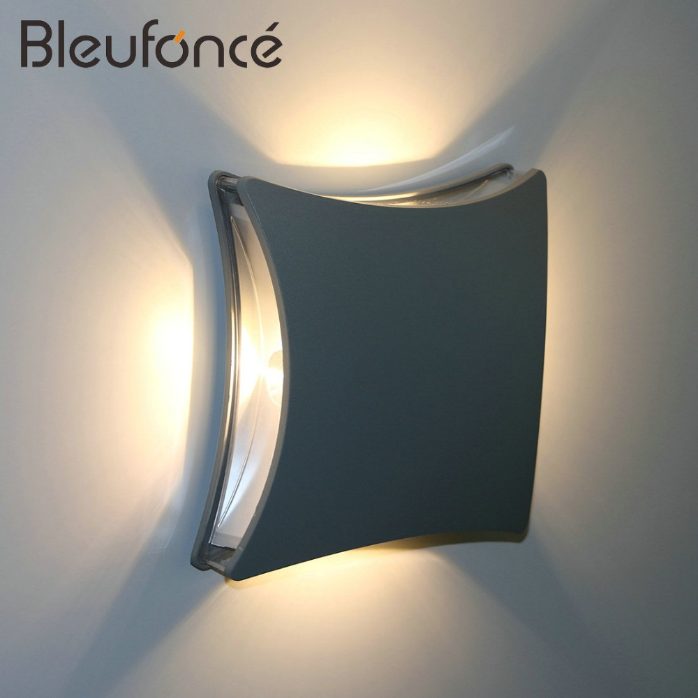Wall Light LED Aluminum Wall Lamp Outdoor Waterproof IP65 Lamp Surface Mounted Patio Courtyard Fence Villa Light AC90-260V BL41 wall light led aluminum wall lamp outdoor waterproof ip65 lamp surface mounted patio courtyard fence villa light ac90 260v bl41