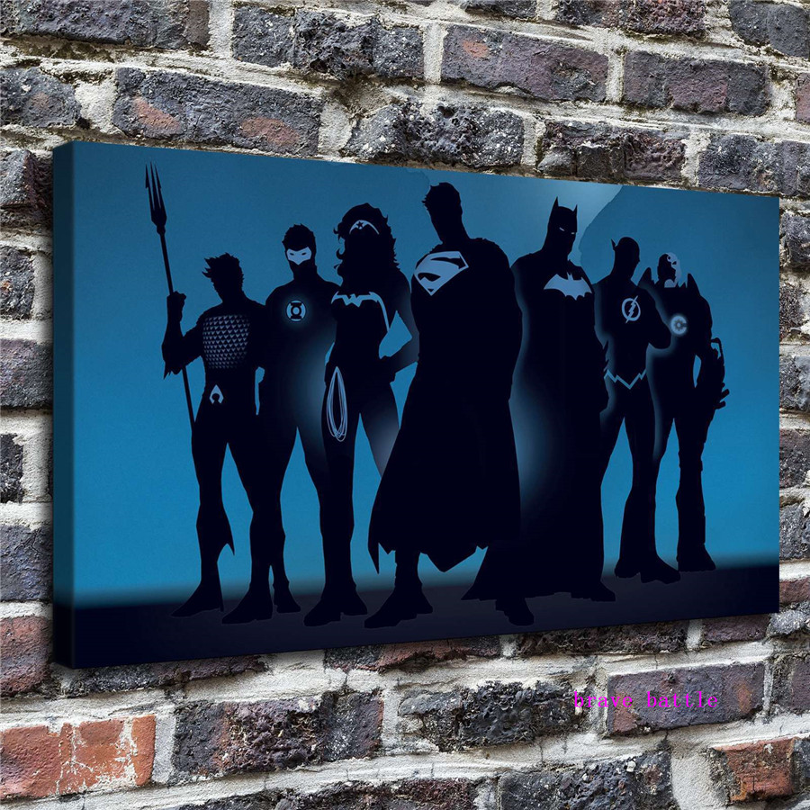 Justice League Canvas Painting Print Living Room Home Decor Modern Wall Art Oil Painting