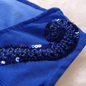 Image 2 - רקמת נצנצים פאן פרחוני סקסי למעלה בתוספת גודל שחור אדום כחול בציר מזדמן מועדון קצר זול קוקטייל שמלות המפלגה שמלות