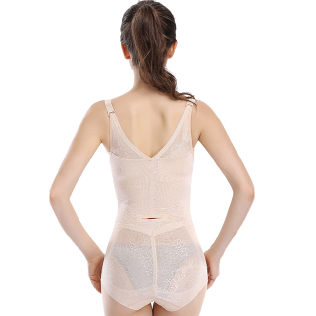 Dower Me Sexy Hot Body Shaper Lace Floral Underbust Corset Bodysuits Shapewear XXL Underwear Waist Trainer Buckle In The Crotch