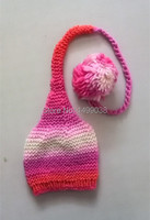 Kids Wool Cap Baby Girls Crochet Hats Hand Knitted For Photograph Props