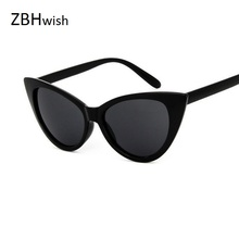 ZBHwish Big Frame Sunglasses Women Cat Eye Sun Glasses 2017 black white sunglasses ladies Vintage Sunglass Oculos De Sol UV400