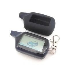 B9 porte-clés chaîne télécommande LCD 2 voies | Porte-clés + housse de clefs Tamarack en silicone pour système d'alarme de voiture bidirectionnel russe Starline B9