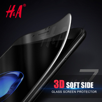 H&A 3D soft edge full cover Tempered Glass For iphone 7 6 6S plus Screen Protector For iphone 6 6S Glass Seamless covering