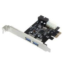 2-портовый SuperSpeed USB 3.0 PCI-E PCI Express 19-контактный USB3.0 4-контактный IDE Разъем Low Profile