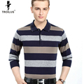 Troilus 2017 Classic Mens Polo Shirt Fashion Striped Long Sleeve Knitted Pullover Male Slim Fit Business Men Clothing Polo Shirt