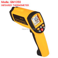 GM1350 Non Contact 501 LCD display IR Infrared thermometer Gun Thermometer 18~1350C (0~2462F) 0.1~1.00 adjustable