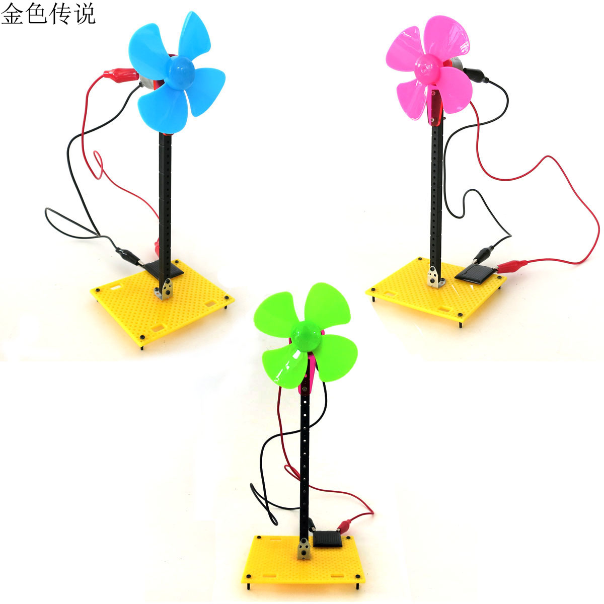 DIY Solar Energy Windmill Model Puzzle Popular Science Toys Educational Bricks 4WD Smart Robot Car Chassis RC Toy F17933/5 solar power cute wheel paddle boat model 2 green energy intelligent diy toy