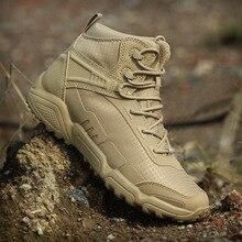 купить Low Top Combat Training Tactical Military Boots Men Women Outdoor Hiking Climbing Sports Light Breathable Desert Sneakers Shoes дешево