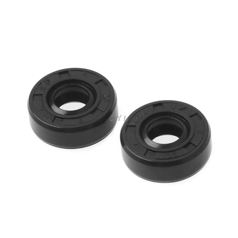 8x20x7mm Wearable Breadmaker Sorbet Machine Blender Repair Parts Oil Seal Ring Ring Home Applicance Kitchen Helper 2pcs/set
