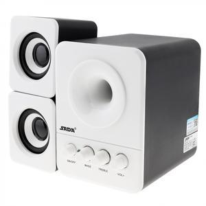 Image 4 - SADA D 203 filaire Mini basse canon 3 W PC combinaison haut parleur Mobile PC haut parleur avec 3.5mm prise stéréo et USB 2.1 filaire alimenté
