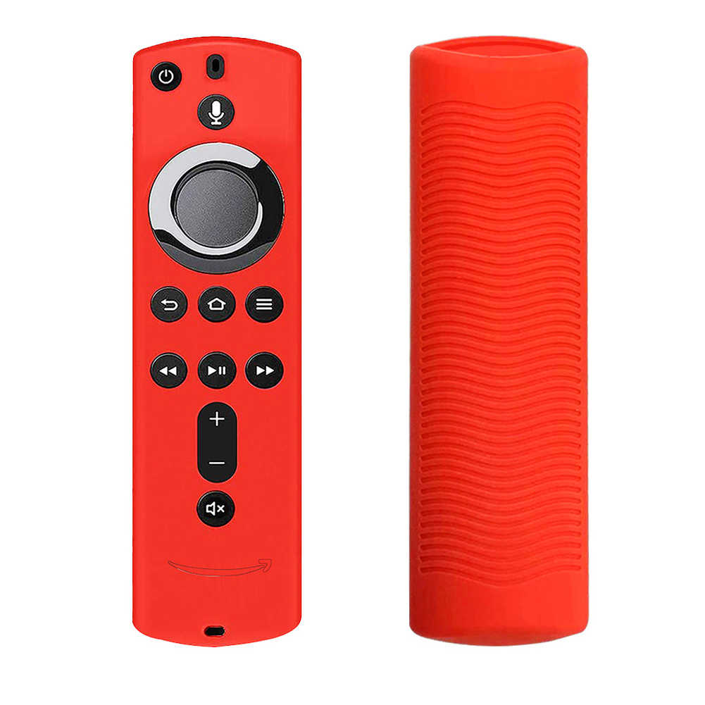Soft Lattice Design Durable Anti Slip Accessories Remote Control Cover Protective Case Silicone Shockproof For Fire TV Stick 4K