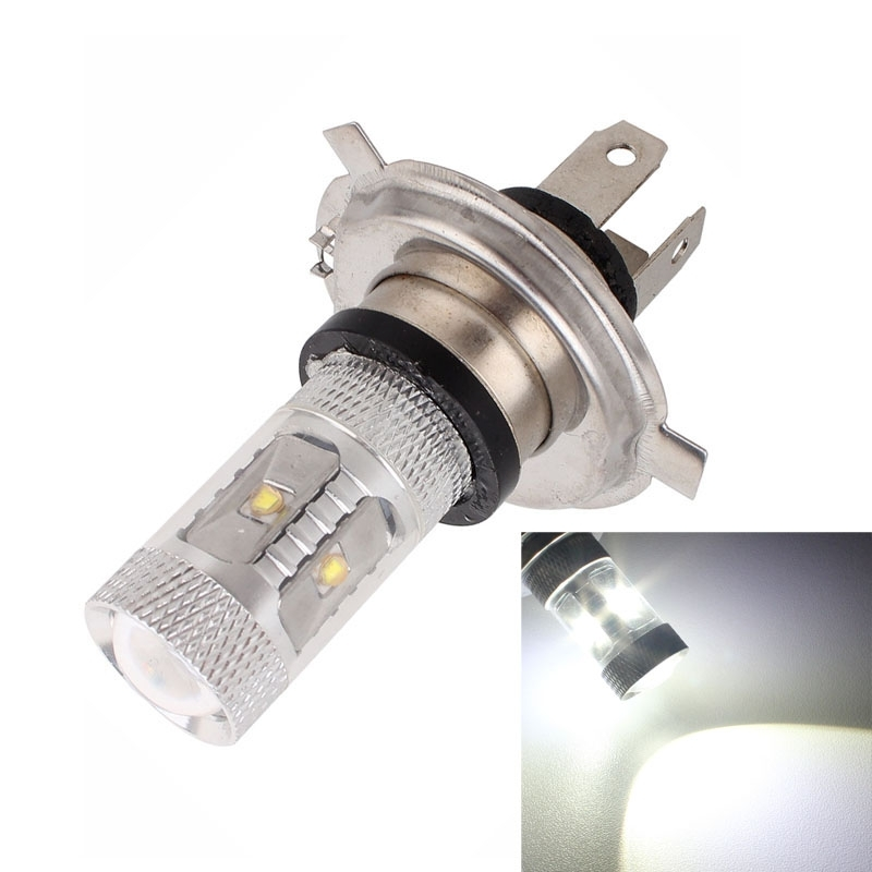 2016 New Hot Auto Access H4 30W 1500LM 6500K White Light 6 XT-E LED Car Foglight Constant Current Bulb DC12-24V Free Shipping