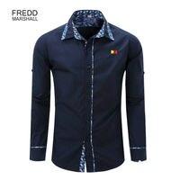 New Europe Size Men Shirt Long Sleeve Brand Men S Fashion Suit Slim 100 Cotton Casual