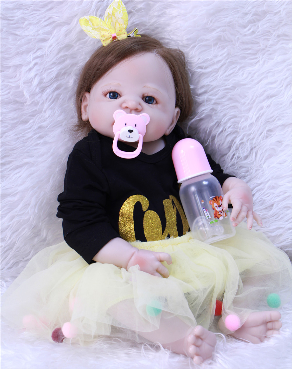 23bebes reborn girl princess dolls NPK full body silicone dolls reborn rooted hair magnetic mouth bonecas brinquedos23bebes reborn girl princess dolls NPK full body silicone dolls reborn rooted hair magnetic mouth bonecas brinquedos