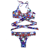BANDEA 2017 New Sexy Solid Bikini Swimwear Women Halter Swimsuit Summer Female Beachwear Brazilian Bikini Set