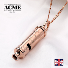 ACME1916 high-end rose gold metal whistle trend fashion necklace customizble laser engraving with