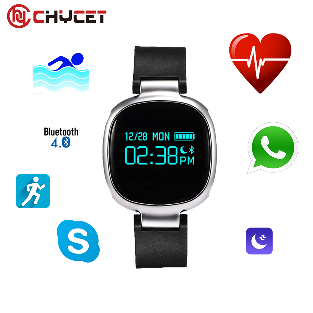 Chycet E08 Smartband Bluetooth 4.0 IP67 Waterproof Support Heart Rate Monitor Swimming Riding Mode for Android IOS Phone PK E07S