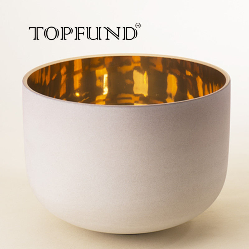 TOPFUND Chakra Frosted Quartz Crystal Singing Bowl 10 ABCDEFG Note With Free Mallet and O Ring