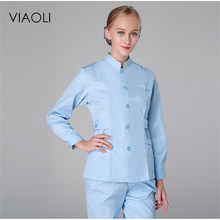 Viaoli autumn and winter medical scrub clothes suit fashion design slender health dental scrub beauty salon nurse uniform(China)