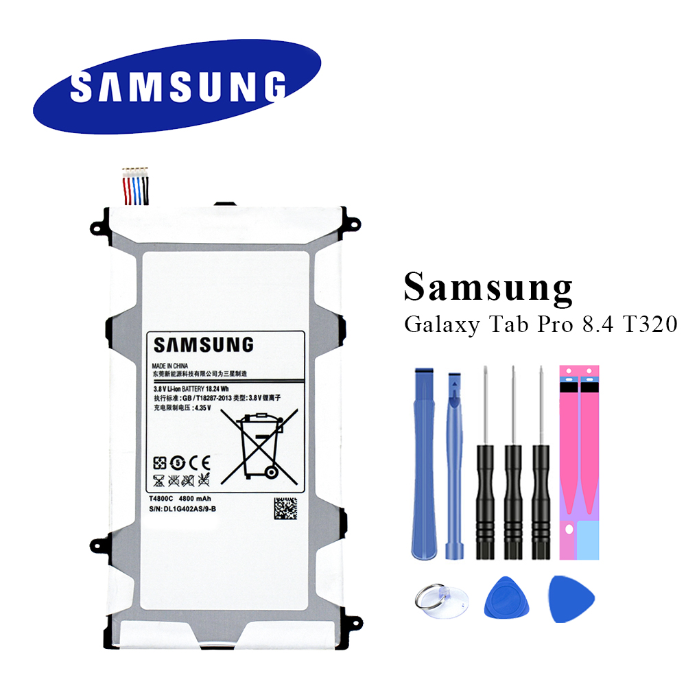 Original-Tablet Akku Für Samsung Galaxy Tab Pro 8,4 SM-T320 T321 T325 T4800E T4800C Top Qualität Batteria mit Werkzeuge