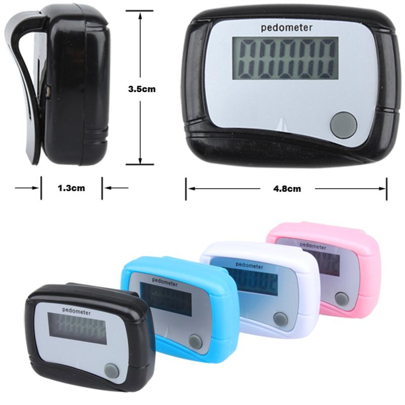 New Healthy Sports Pedometers 1pc Random Color LCD Pedometer Step Calorie Counter Walking Distance Sport Pedometer