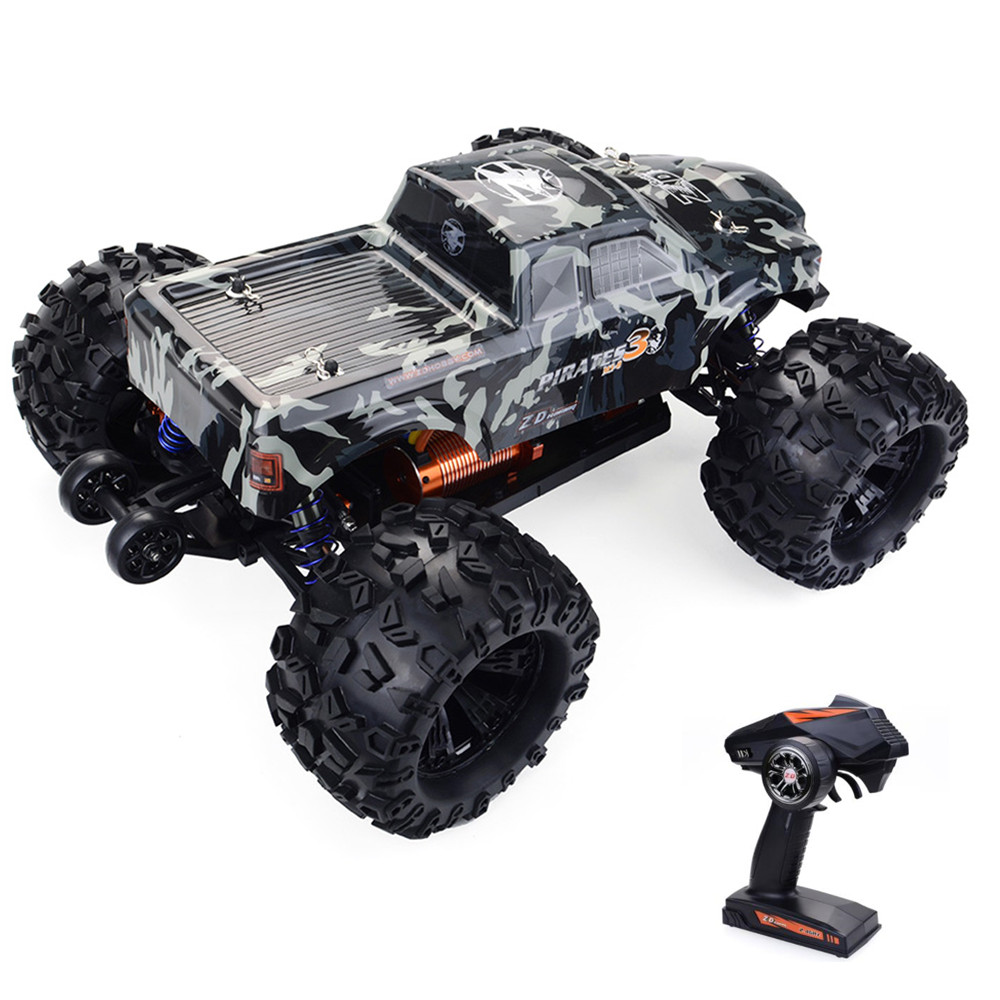 ZD Racing MT8 Pirate 3 RC Car 1/8 120A Waterproof Brushless ESC RC Monster Truck RTR Adjustable Shock Absorber Off-Road Car