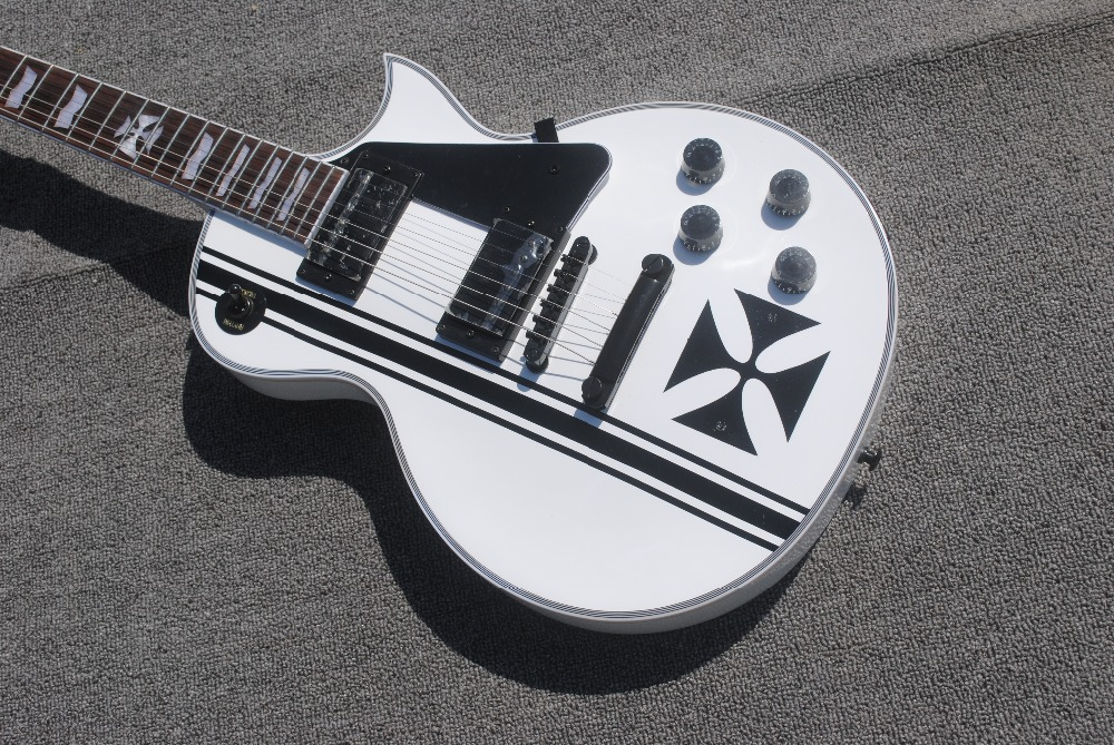 2019 New Style Free Shipping 2019 Solid Body Replica Guitar Chinese Factory Electrique Musical Instrument Electric Guitar Lxh-0040