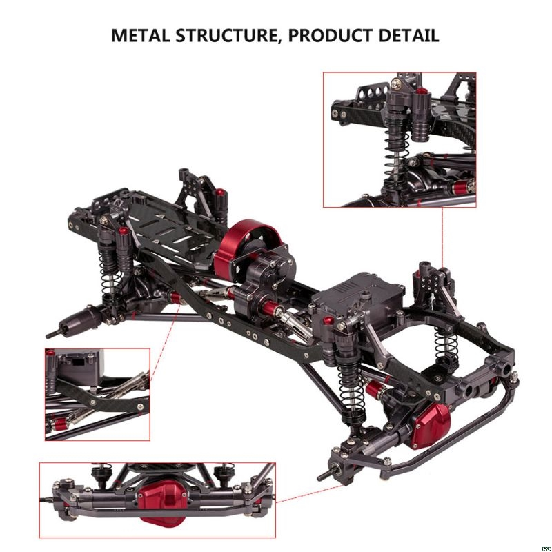 Metal RC Car Frame Kit for 1 10 SCX10 AXIAL RC Crawler Climbing Cars DIY Spare