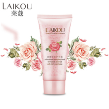 LAIKOU Hand Cream Hand Rose Essence Oil SkinCare Moisturizing Anti Aging Anti Wrinkles Skin Care Rose