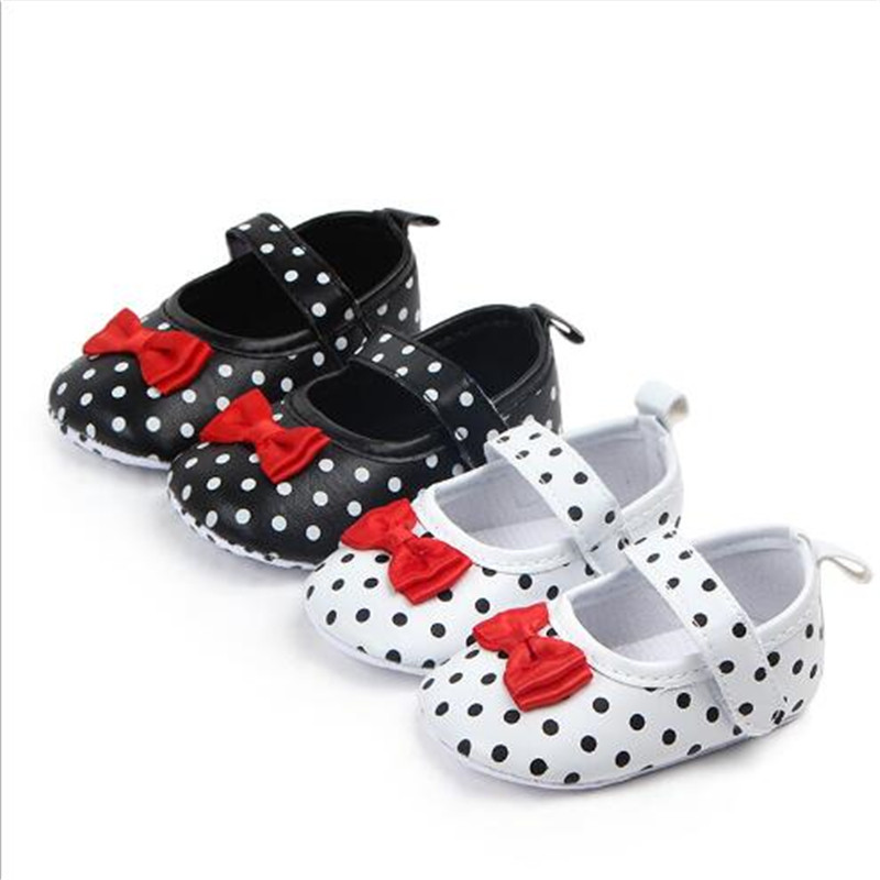 Lovely Dots Baby Shoes Soft Sole Infants Girls Princess Shoes