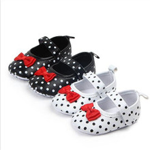 Lovely Dots Baby Shoes Soft Sole Infants Girls Princess