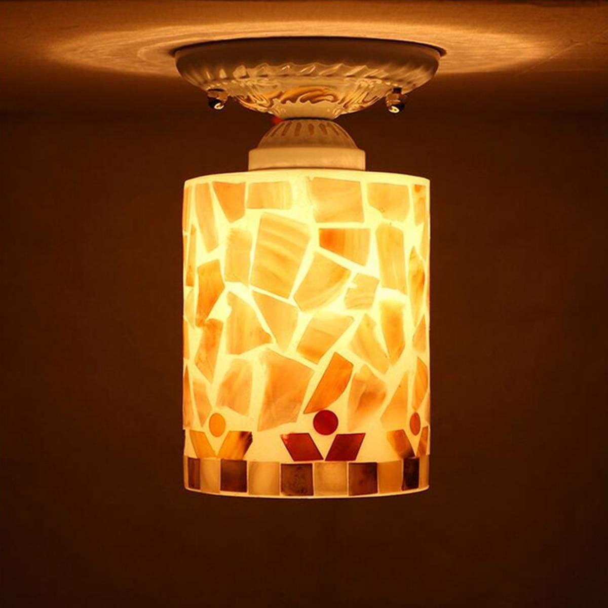 Shell Ceiling Light Garden Balcony LED Ceiling Lamps European Modern Style Bedroom Night Lights Home Decor LED Lighting
