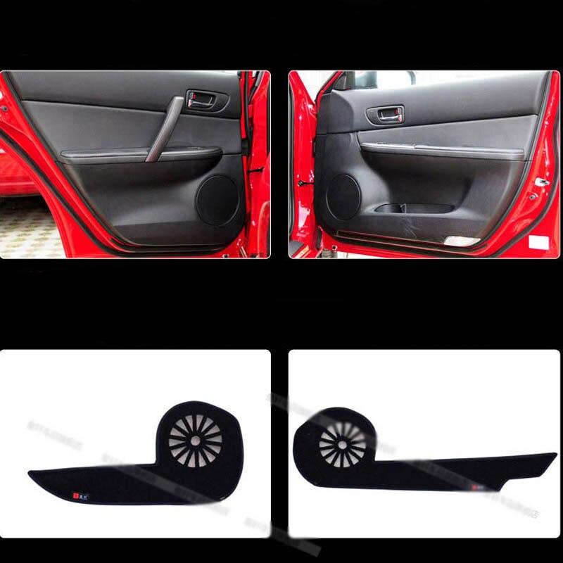 4 pièces de Porte De Tissu De Tapis de Protection Anti-kick Décoratif Tampons Pour Mazda 6 2006-2015