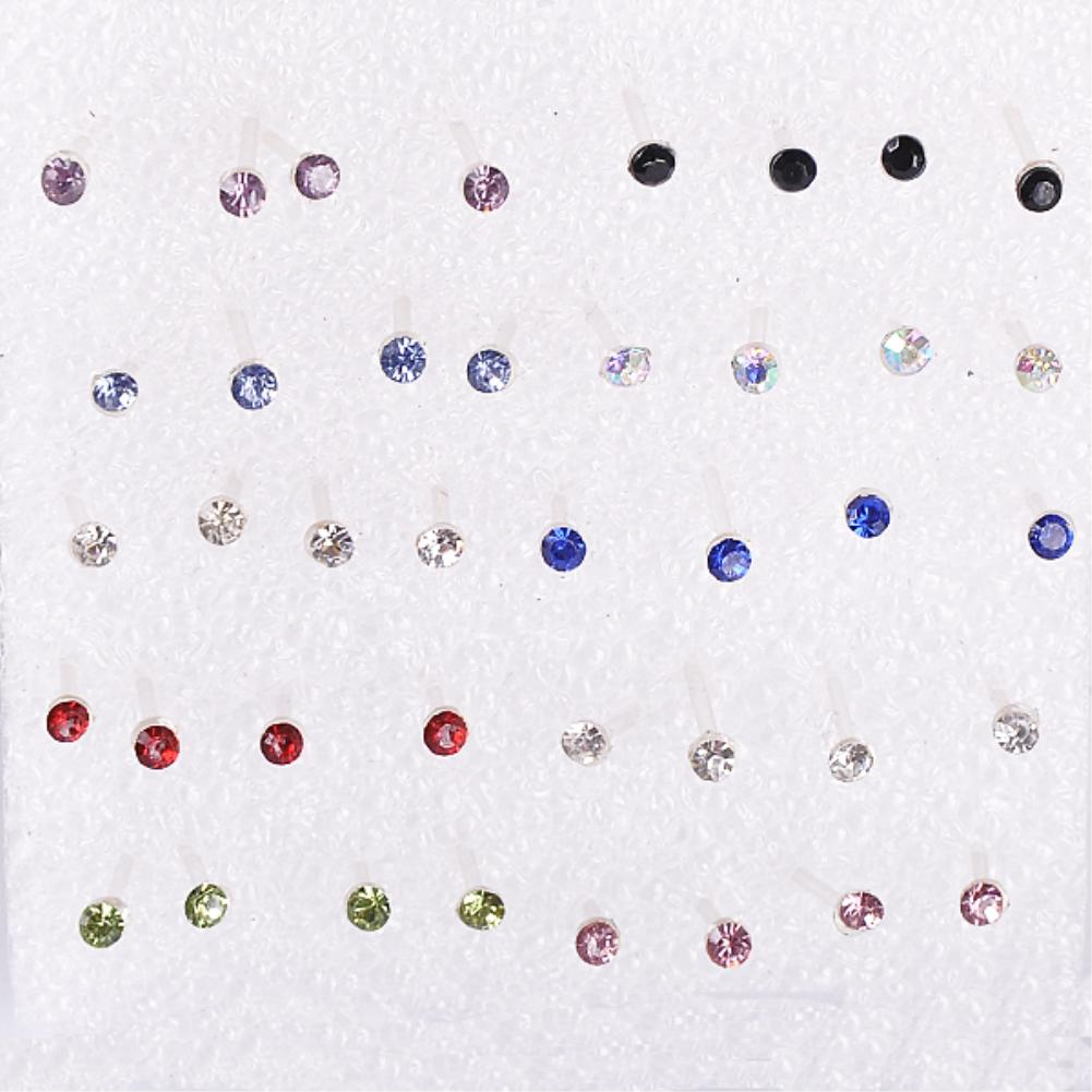 Wholesale Cheap 40pcs/set Womens Ladies Cute Little Moon Star Plastic Pin Earring Ear Studs Stud Earrings
