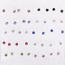 Wholesale Cheap 40pcs/set Womens Ladies Cute Little Moon Star Plastic Pin Earring Ear Studs Stud Earrings