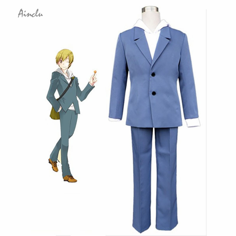 Ainclu Customize for adults and kids Handsome Durarara Ryugamine Mikado Cosplay Costume Men Uniform Suit For Halloween