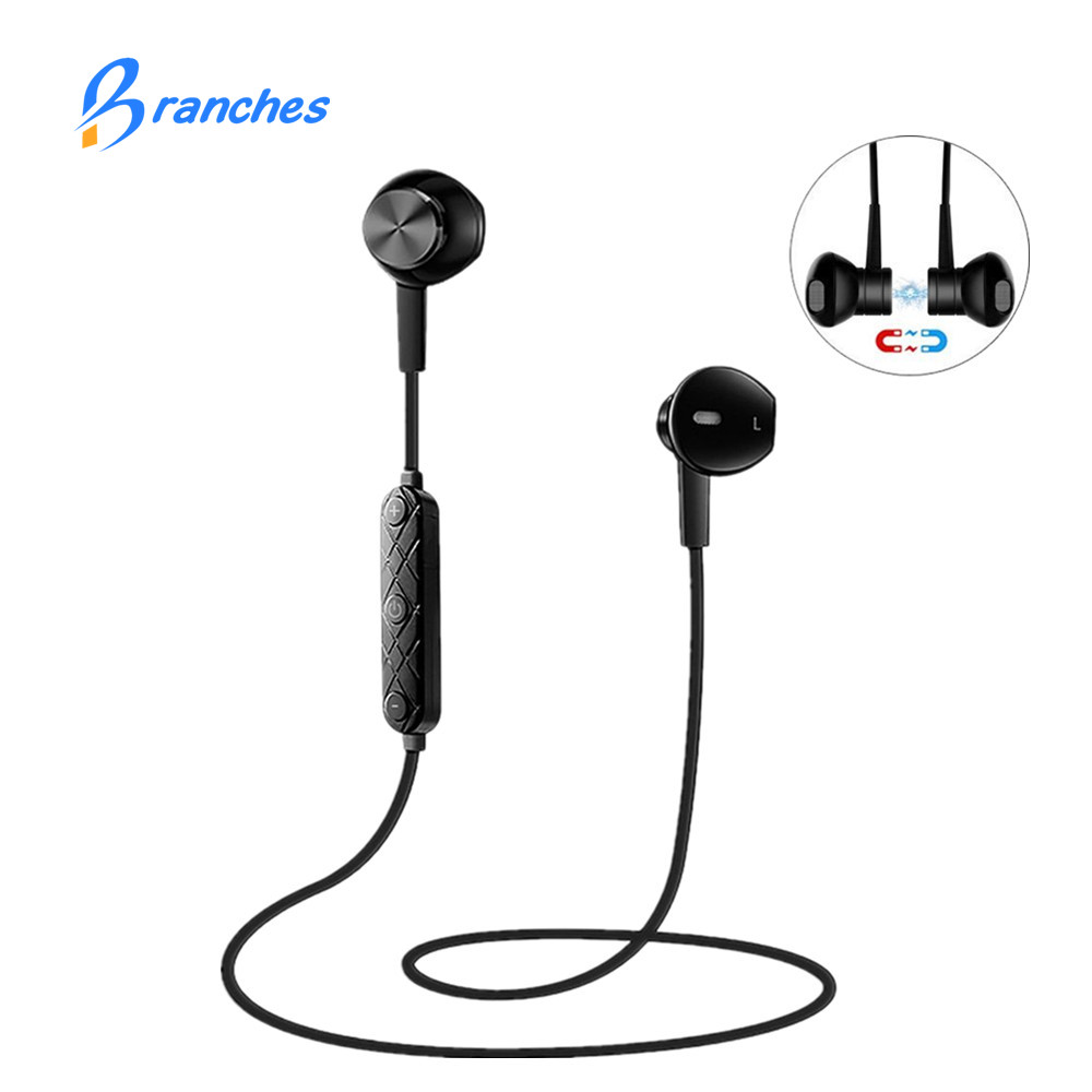 i8 Bluetooth Earphone with Mic Headphones Sport Wireless Earphones Stereo Magnetic Headset Earbuds for Xiaomi Samsung