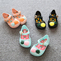 Mini Melissa Furadinha VII BB Shoe Toddler Pineapple Fruit Jelly Crocs Shoes Mini Girls Summer Sandals