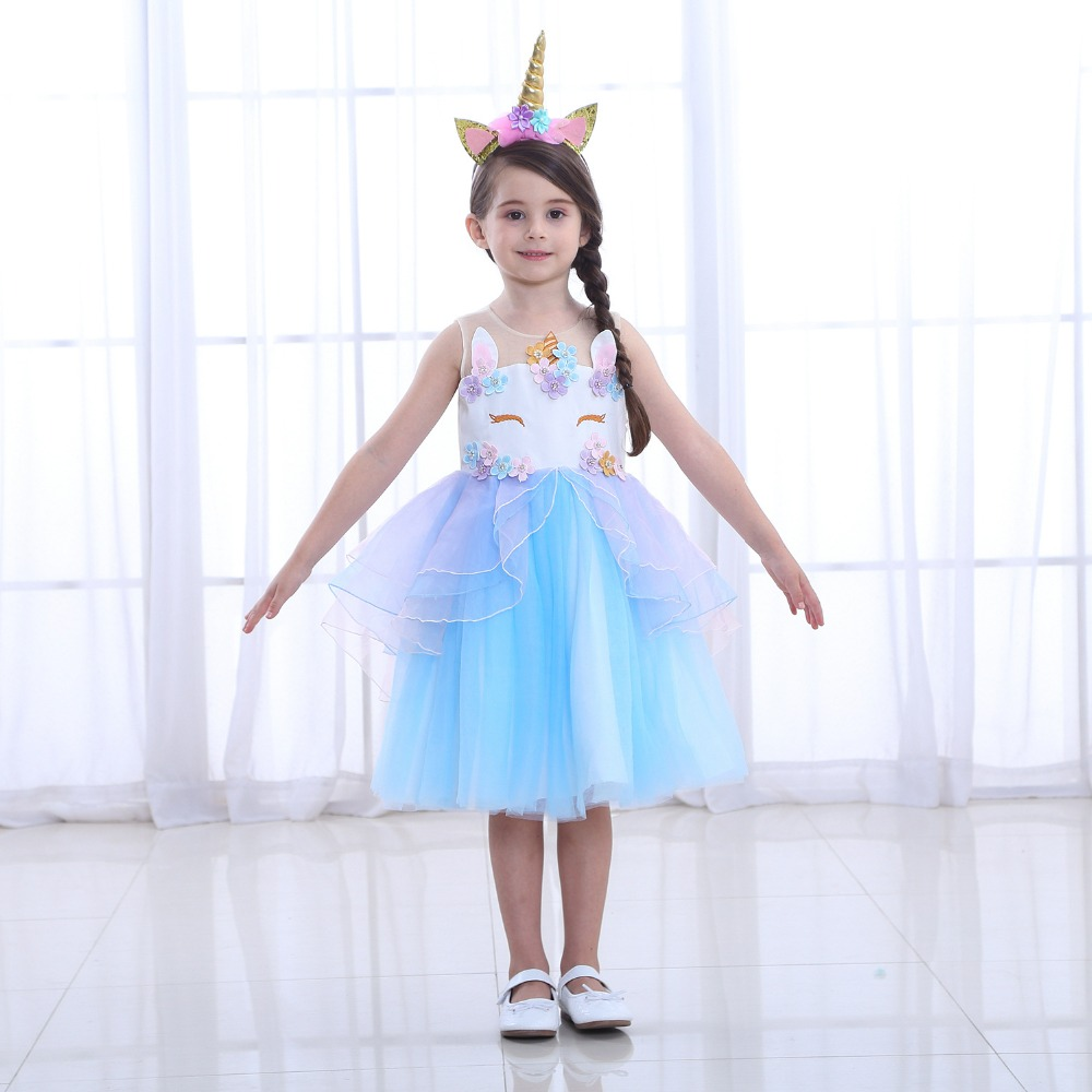 Flight Tracker Special Unicorn Costume For Girls Mask Skirt Birthday Dance Show Dresses Toy Christmas Carnival Party Costumes Kids Costumes & Accessories Novelty & Special Use