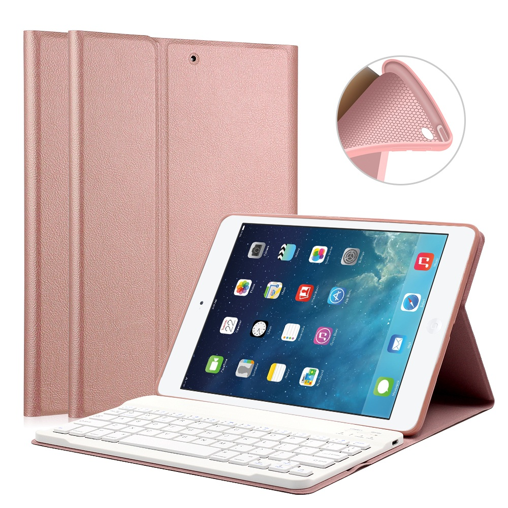 Keyboard Case for iPad 9.7 2017 / iPad Air 2 1 Silicone Soft Cover for iPad 2017 Case 9.7 with Bluetooth Keyboard A1822 A1823
