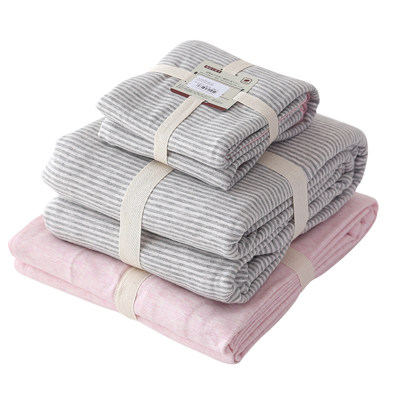 100% Cotton Super Soft Cozy Bedding Sets Winter Striped Duvet Cover /Pillowcase/Bed Sheet Queen King 4 PCS 100% Cotton Super Soft Cozy Bedding Sets Winter Striped Duvet Cover /Pillowcase/Bed Sheet Queen King 4 PCS