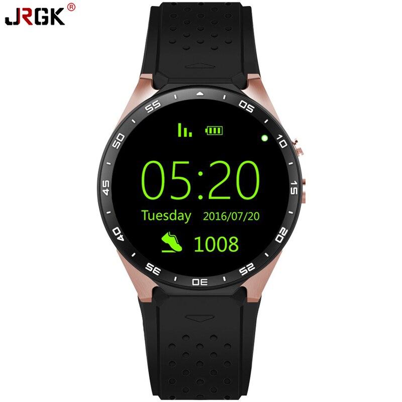 Mtk6580 jrgk kw88 smart watch android 5.1 os cpu 1.39 pulgadas de pantalla 2.0mp